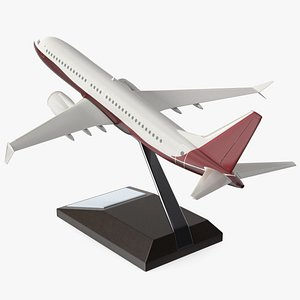 Turbofan Aircraft Scale Model with Stand 3D model