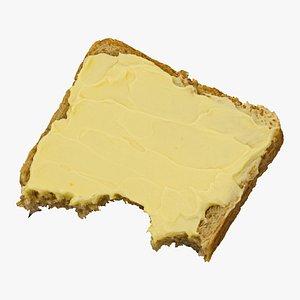 3D toast margarine 03 bitten