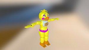 3D toy chica fnaf 2