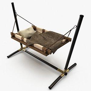 3D cradle bed room