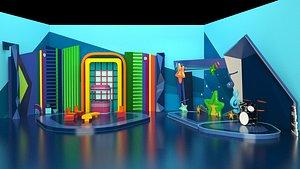 3D Child Tv Studio Design