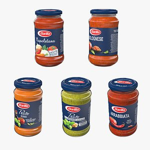 3D Sauces Set Collection model