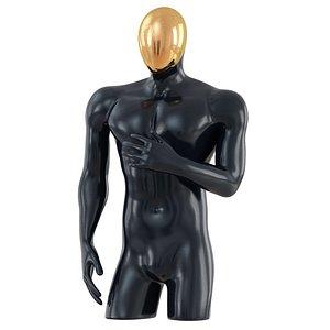 man mannequin gold 3D
