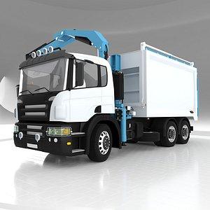 Front Crane Garbage Truck model