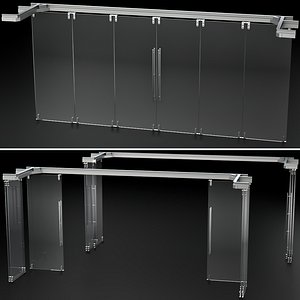 3D Glass Sliding Partition Wall