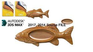 fish ashtray 3D model