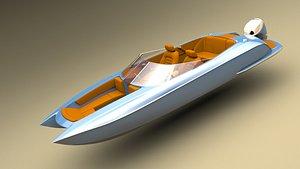catamaran outboard model