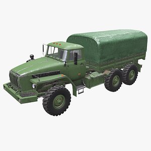 Ural 4320 PBR 3D Model model