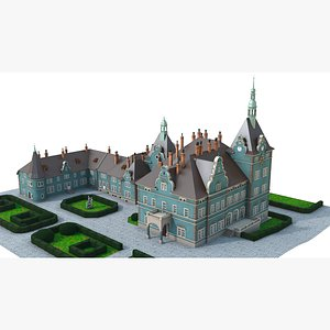 Shemborn Castle - version with non-detailed textures 3D model