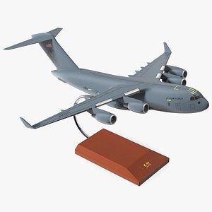 Globemaster III Scale Model with Stand 3D
