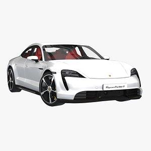 3D porsche taycan turbo
