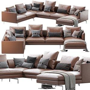 1333 flamingo zanotta sofa 3D