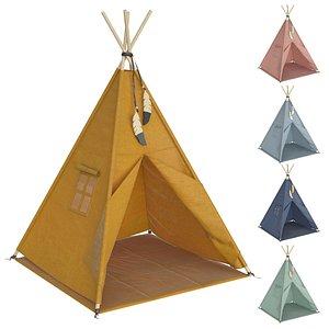Colored Kids Tent 3D model