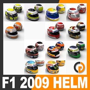 3D f1 helmets