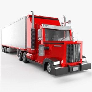 3D heavy truck cartoon model