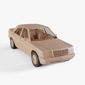 3D 1982 Mercedes-Benz 190