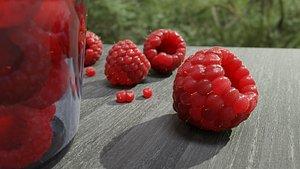 Raspberry berry 3D model