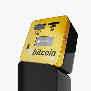 3D Cryptocurrency Bitcoin BTC ATM model