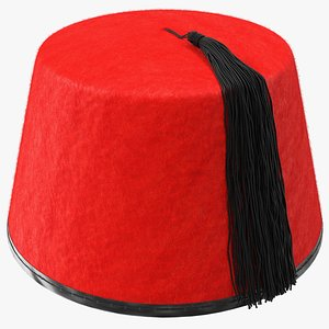 traditional arabic red fez 3D model