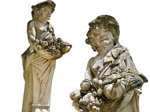 Rome garden sculpture 3D model