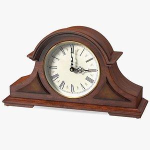 Antique Mantel Clock Brown 3D