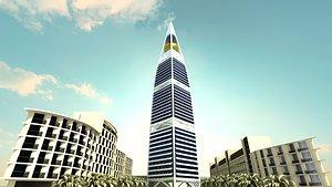 skyscraper architecture tower 3D model