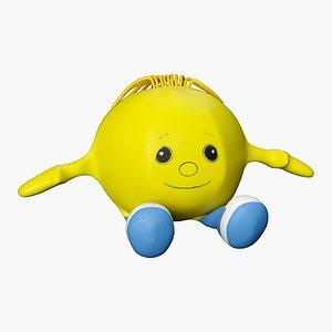 3D model soft toy rolling