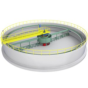 Circular Wastewater Treatment Plant 2 3D model