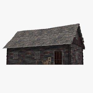 3D Ancient wooden houses model
