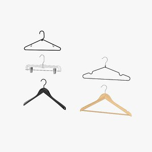 clothes hangers set 3D