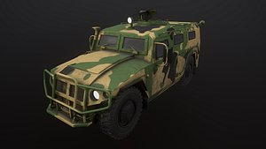 Gaz Tiger 2330 Car 3D model
