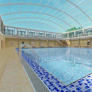 3D Indoor Pool with Patio Set