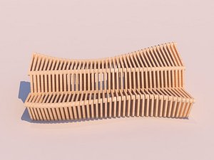 3D parametric bench - model