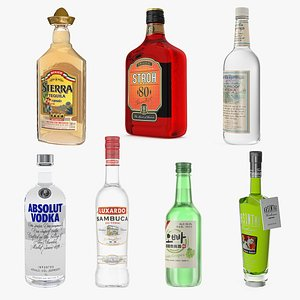 Alcoholic Drinks Collection 5 3D