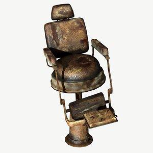 obj old barbershop chair