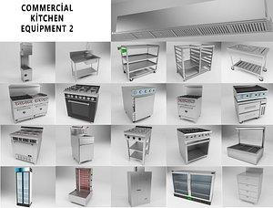 3D Commercial Kitchen Equipments 2