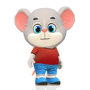 mouse rat rodent character games 3D model