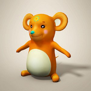 3D cartoon mouse toon model