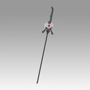 3D arknights podenco staff