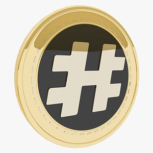 Metahash Cryptocurrency Gold Coin 3D model