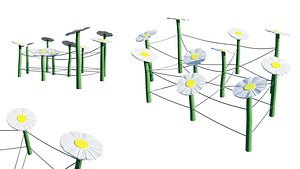 3D kids playground model