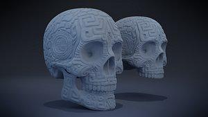 3D Aztec Skull version 1