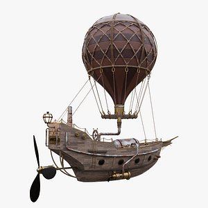 steampunk hot air 3D model