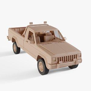 3D 1984 Jeep Comanche model