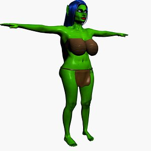 3D Goblin Girl 2 model