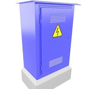 Outdoor Electrical Cabinet 3D Model 30 3D model