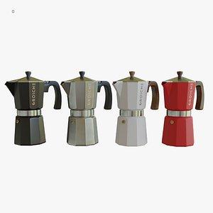 3D moka pot espresso model