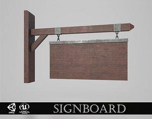3D Medieval Signboard v7