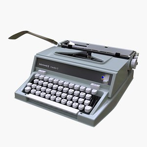 3D typewriter type writer model