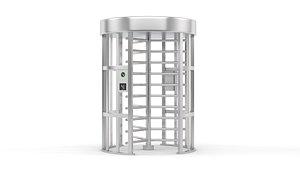 access security turnstile 3D model